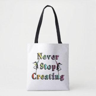 Art Fairies: Never Stop Creating Tote Bag
