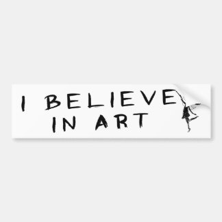 Art Fairy: I Believe In Art Bumper Sticker