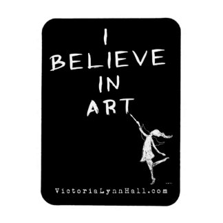 Art Fairy: I Believe In Art Promotional Value Flexible Magnets