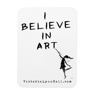 Art Fairy: I Believe In Art Promotional Value Flexible Magnets