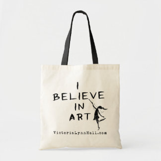 Art Fairy: I Believe In Art Promotional Value Tote Bag