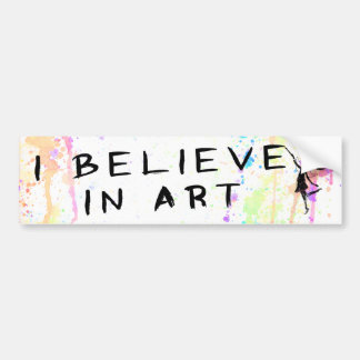 Art Fairy: I Believe In Art Watercolor Bumper Sticker