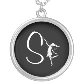 Art Fairy Inital: S Silver Plated Necklace
