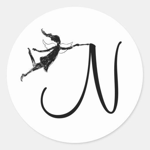 Art Fairy Initial: N Sticker