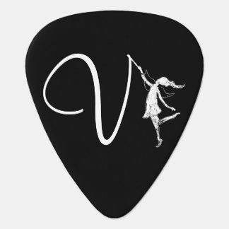 Art Fairy Initial: V Guitar Pick