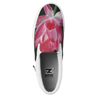 Art fashion Flower Custom Zipz Slip On Shoes Printed Shoes
