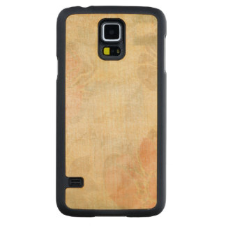 art floral grunge background pattern carved maple galaxy s5 case