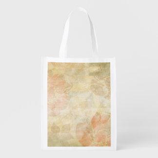 art floral grunge background pattern reusable grocery bag