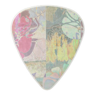 Art floral grunge pattern acetal guitar pick