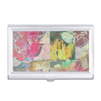 Art floral grunge pattern business card holders