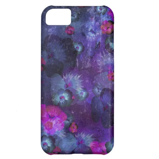 Art floral grunge pattern cover for iPhone 5C