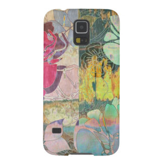 Art floral grunge pattern cases for galaxy s5