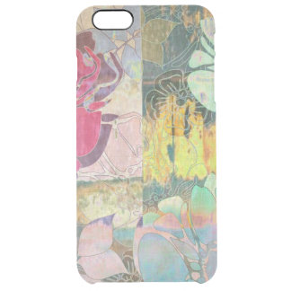 Art floral grunge pattern clear iPhone 6 plus case