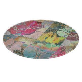 Art floral grunge pattern cutting board