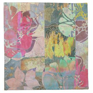 Art floral grunge pattern napkin