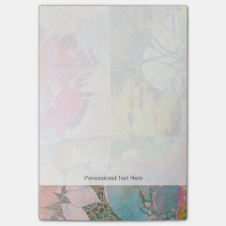 Art floral grunge pattern post-it notes