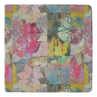 Art floral grunge pattern trivet