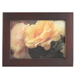 art floral vintage background in pastel colors keepsake box