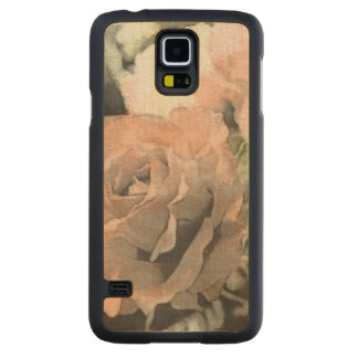 art floral vintage background with light pink carved maple galaxy s5 case