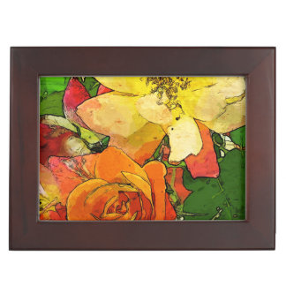 art floral vintage colorful background 2 keepsake box