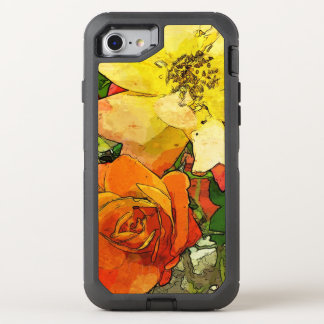 art floral vintage colorful background 2 OtterBox defender iPhone 8/7 case