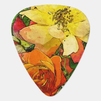 art floral vintage colorful background 2 plectrum