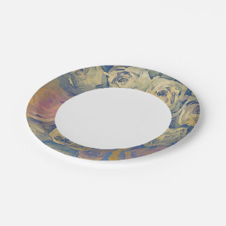 art floral vintage colorful background 7 inch paper plate
