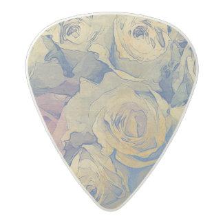 art floral vintage colorful background acetal guitar pick
