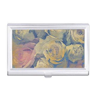 art floral vintage colorful background business card holder