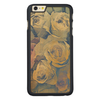 art floral vintage colorful background carved maple iPhone 6 plus case