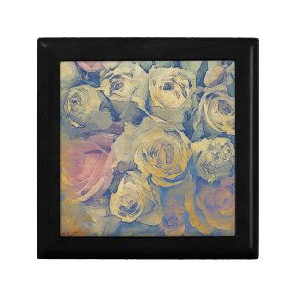art floral vintage colorful background gift box