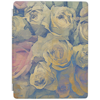 art floral vintage colorful background iPad cover