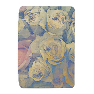 art floral vintage colorful background iPad mini cover