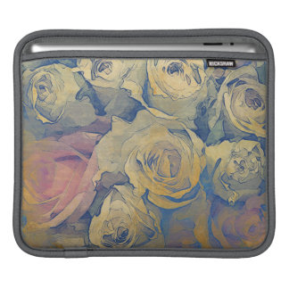art floral vintage colorful background iPad sleeve