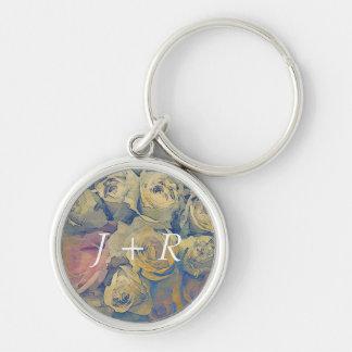 art floral vintage colorful background key ring
