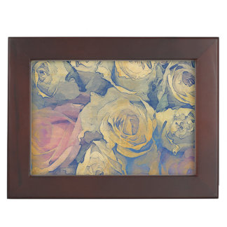 art floral vintage colorful background memory box