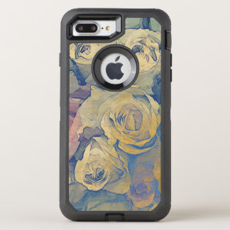 art floral vintage colorful background OtterBox defender iPhone 8 plus/7 plus case