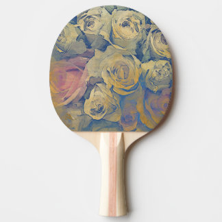 art floral vintage colorful background ping pong paddle