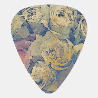 art floral vintage colorful background plectrum