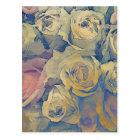 art floral vintage colourful background postcard