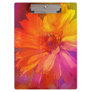 Art Floral Vintage Rainbow Background Clipboard