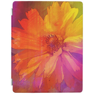 Art Floral Vintage Rainbow Background iPad Cover