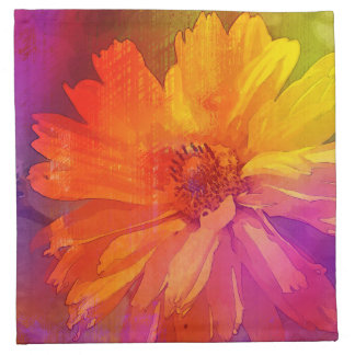 Art Floral Vintage Rainbow Background Napkin