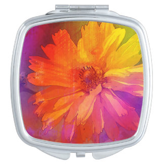 Art Floral Vintage Rainbow Background Vanity Mirror