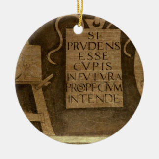Art, from 'The Liberal Arts' cycle (fresco) Christmas Ornament
