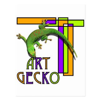 art gecko postcard