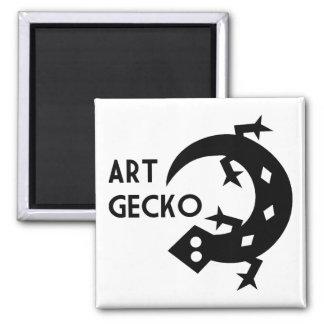 Art Gecko Square Magnet