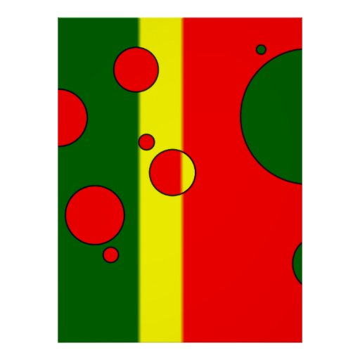 Art Gifts for Portuguese: Flag Colors of Portugal Posters