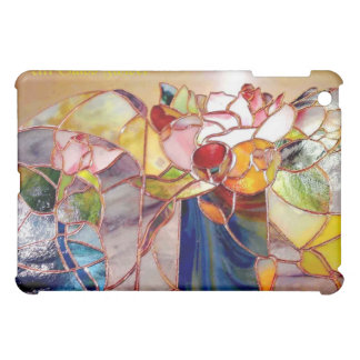 Art Glass Flower Artistic iPad Cover Horizontal