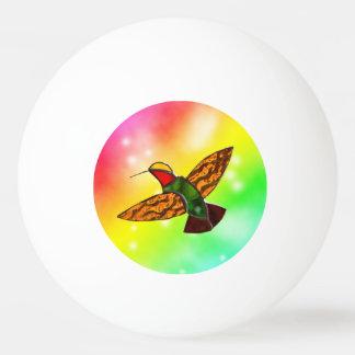 ART GLASS HUMMINGBIRD PING PONG BALL